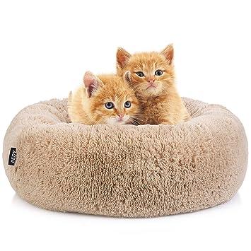 Amazon.com: Pedy Round Pet Bed, Luxury Fur Donut Cuddler ...