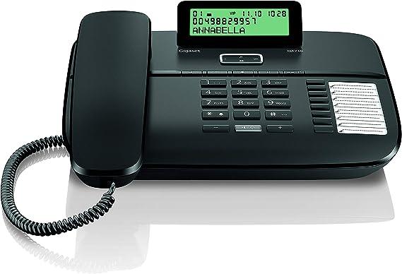 Gigaset DA710 - Teléfono Fijo con Cable Manos Libres, Pantalla de Posición Ajustable, Color Negro: Gigaset: Amazon.es: Electrónica