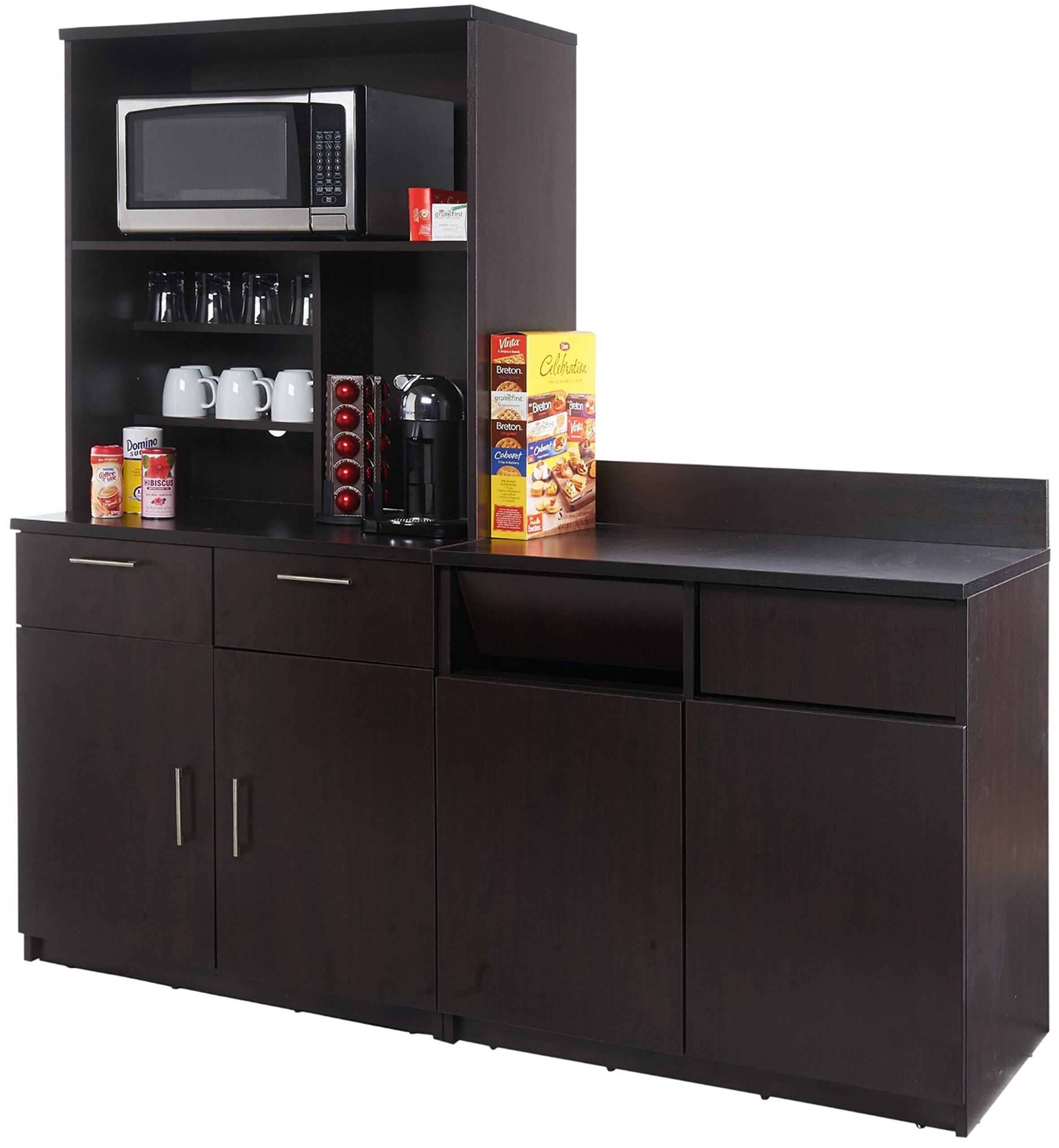 Breaktime 3PC Group Model 2126 Break Room Lunch Combo ''Ready-To-Install/Ready-To-Use'', Espresso