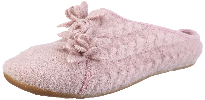 Haflinger Romantica 483005, Pantofole donna  Rosa (Rosa/Rosenholz)