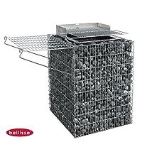 Einbaugrill silber XL Installation Grill ✔ eckig ✔ stehend grillen ✔ Grillen mit Holzkohle