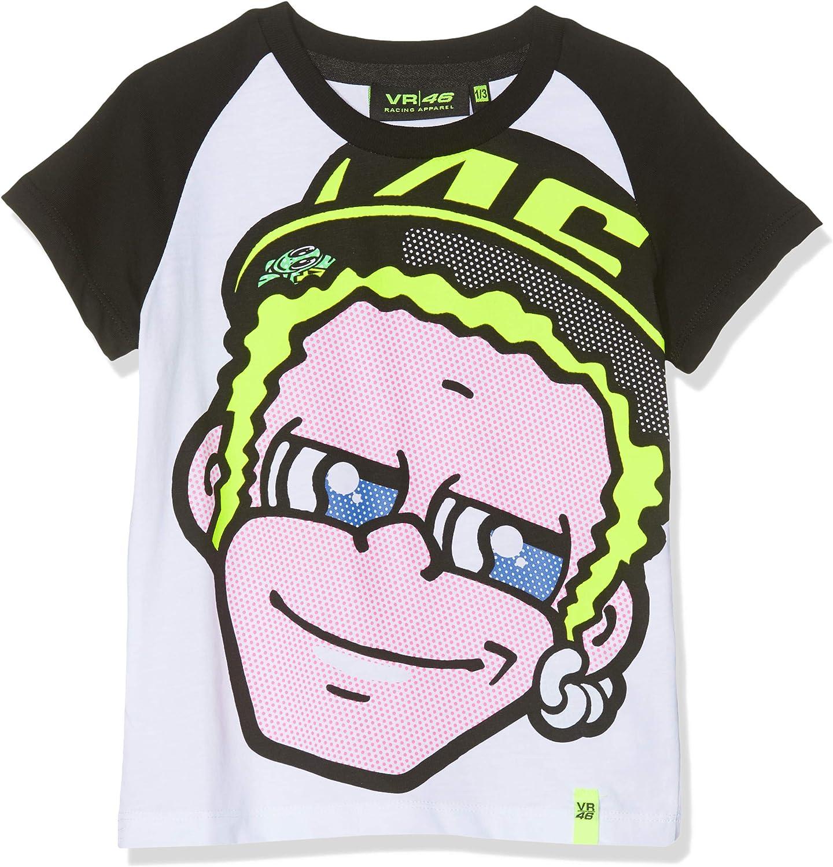 Valentino Rossi VRKTS308406 - Camiseta de Doctor Unisex Niños, Blanco, 1/3 años
