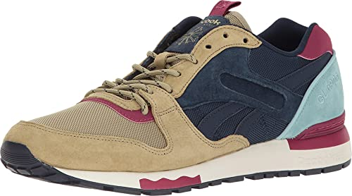 1646f5e254efd7 Reebok Men s GL 6000 BP Acid Gold Collegiate Navy Athletic Shoe ...