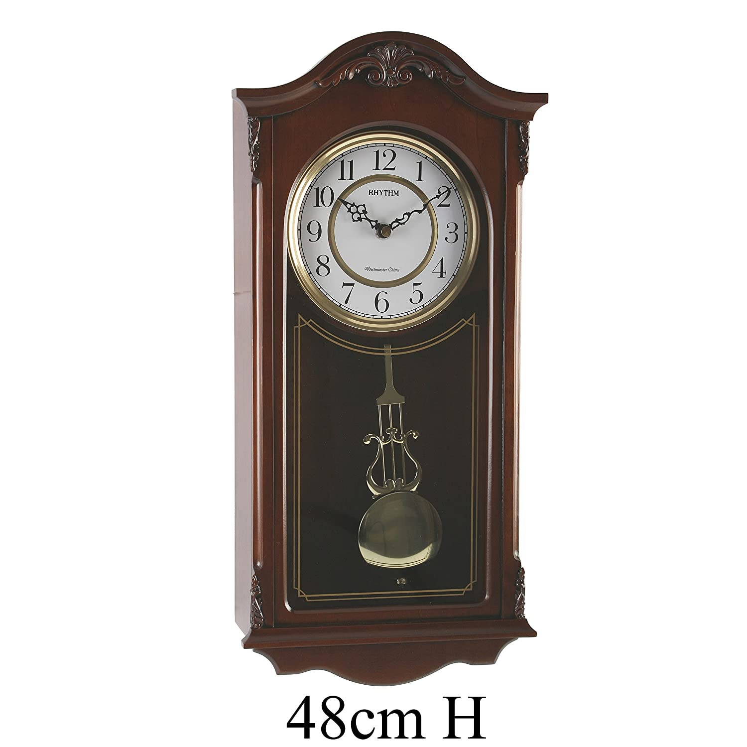 Fox and Simpson Wood Pendulum Wall Clock with Westminster Chimes
