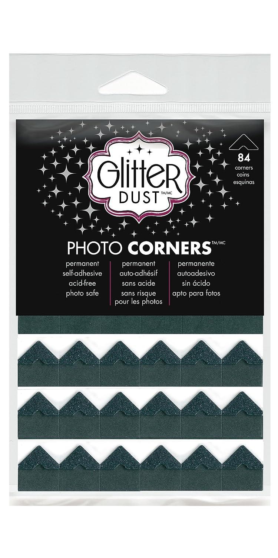 Therm O Web Glitter Photo Corners, Black Nickel 3115