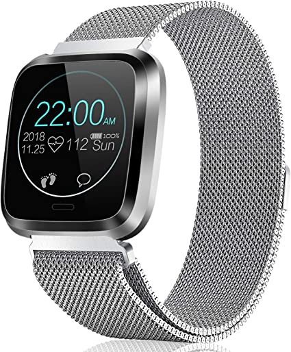CatShin Fitness Watch Heart Rate Monitor IP68 Fitness Tracker Waterproof Pedometer Calroies Counter Sleep Monitor Remote Camera Control Message ...