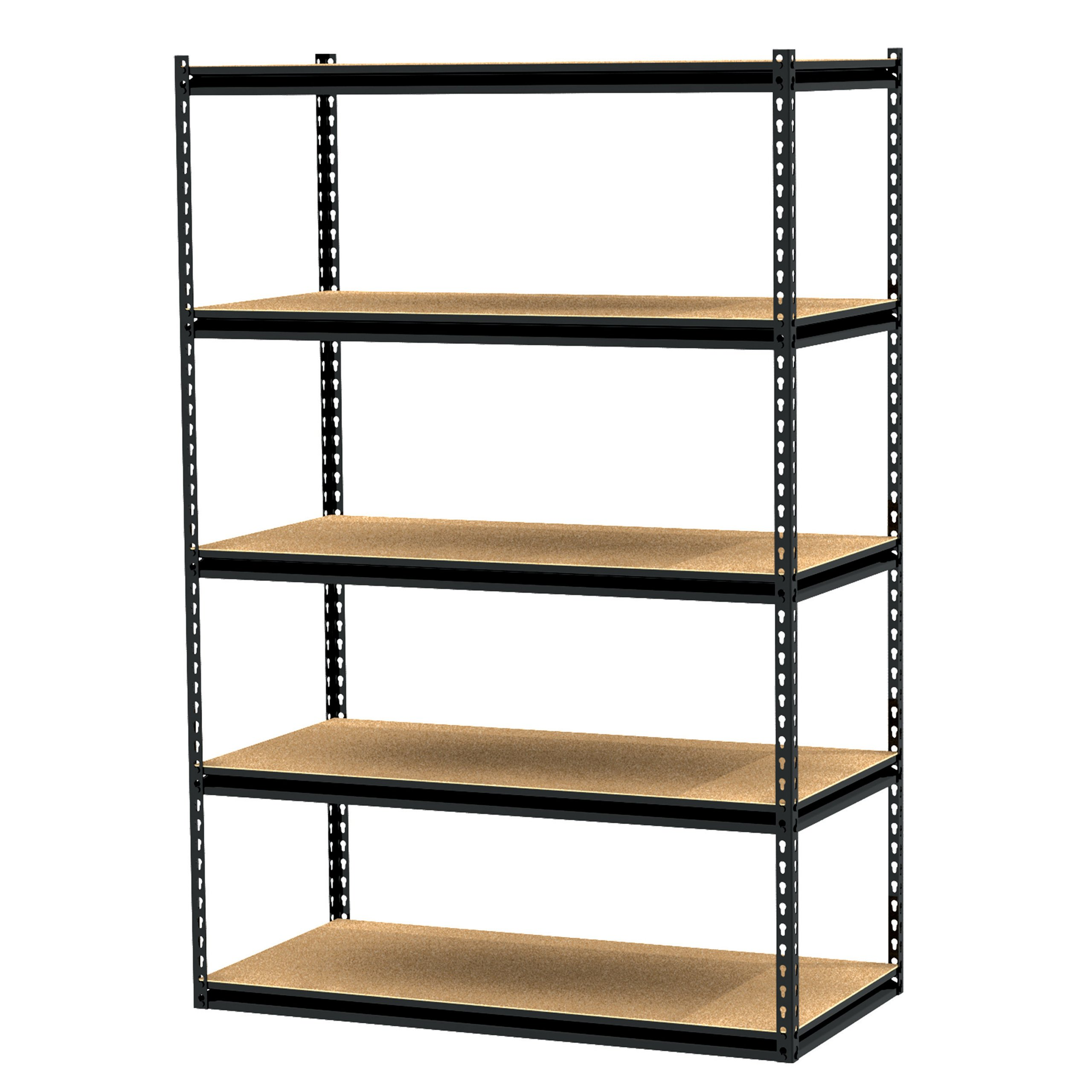 Gorilla Rack GRZ6-4824-5PCB 48 by 24 by 72-Inch Shelving Unit with 5-shelf, Black by Gorilla Rack