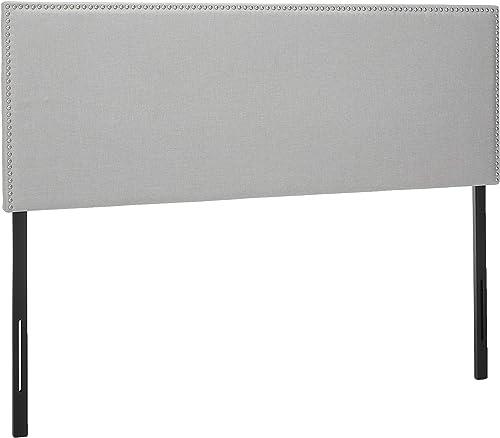 Zinus Jake Upholstered Nailhead Rectangular Headboard