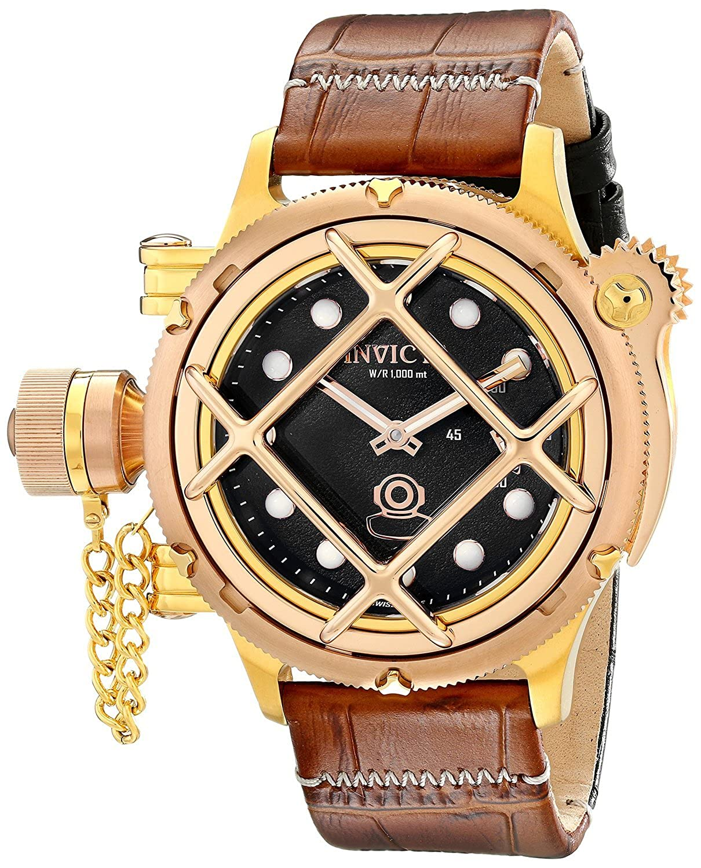 [インヴィクタ]Invicta 腕時計 Russian Diver Analog Display Mechanical Hand Wind Brown Watch 16180 メンズ [並行輸入品] B00XILFVMU