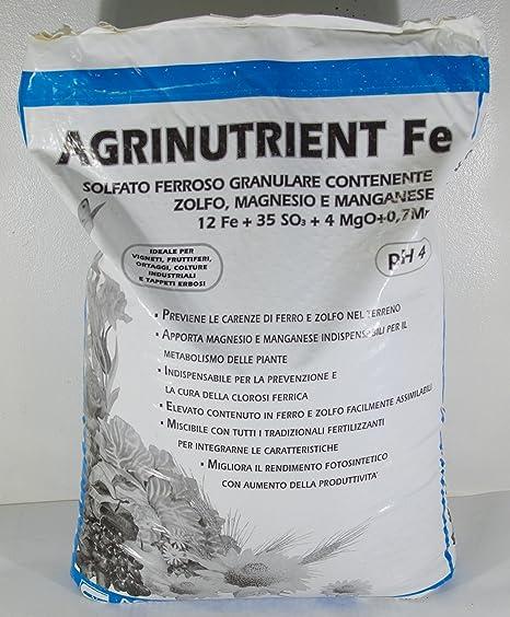 Agrinutrient sulfato ferroso granulado, 25 kg.