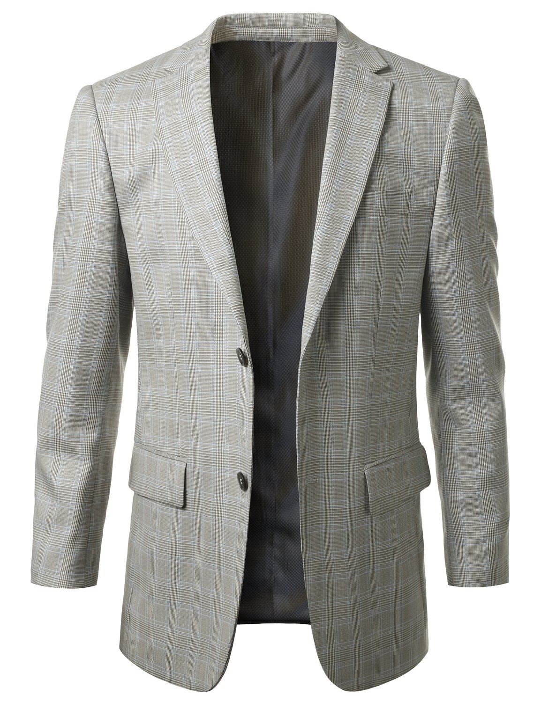 MONDAYSUIT Men's 100% Wool Sport Coat Blazer Jacket w/ Patch (Big & Tall Avail) by MONDAYSUIT