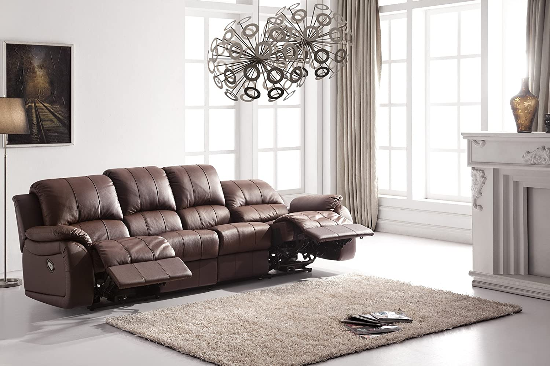 Voll-Leder Couch Sofa-Garnitur-Relaxsessel Polstermöbel ...