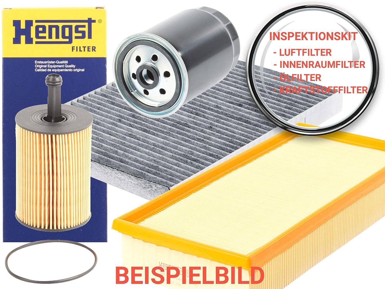 HENGST Filterpaket Inspektions-SET Ö lfilter + Luftfilter + Innenraumfilter + Kraftstofffilter, A448195 A447607 A446877 A447089