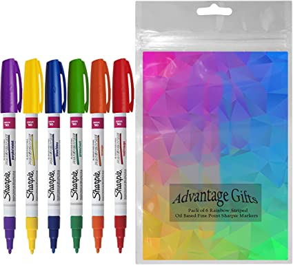 Assorted Colors New Sharpie Oil-Based Paint Markers 5-Pack Fine Point