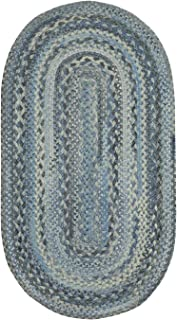 "product image for Capel Harborview Blue 9' 2"" x 13' 2"" Oval Braided Rug"