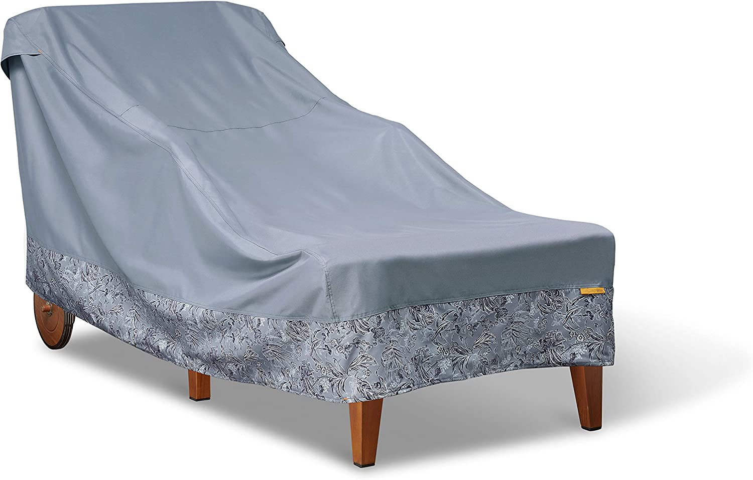 Vera Bradley by Classic Accessories Water-Resistant Patio Chaise Lounge Cover, 78 x 34 x 34 Inch, Rain Forest Toile Gray