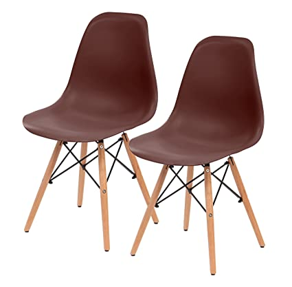 Amazoncom Iris Mid Century Modern Shell Chair With Wood Eiffel