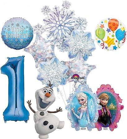 10pc Disney Frozen Elsa Birthday Mylar Party Decoration Theme Supplies Balloon