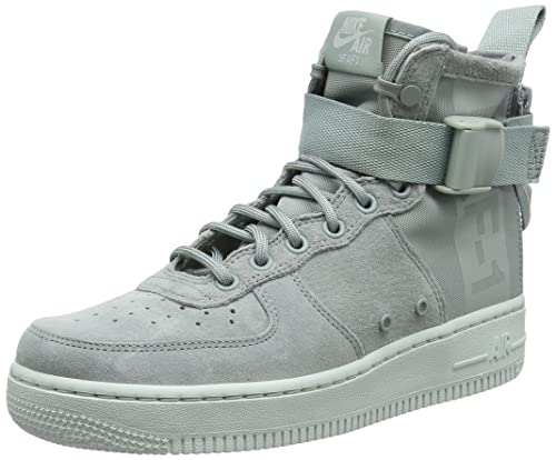 Nike Women SF AIR Force 1 MID (9 W, Grey)