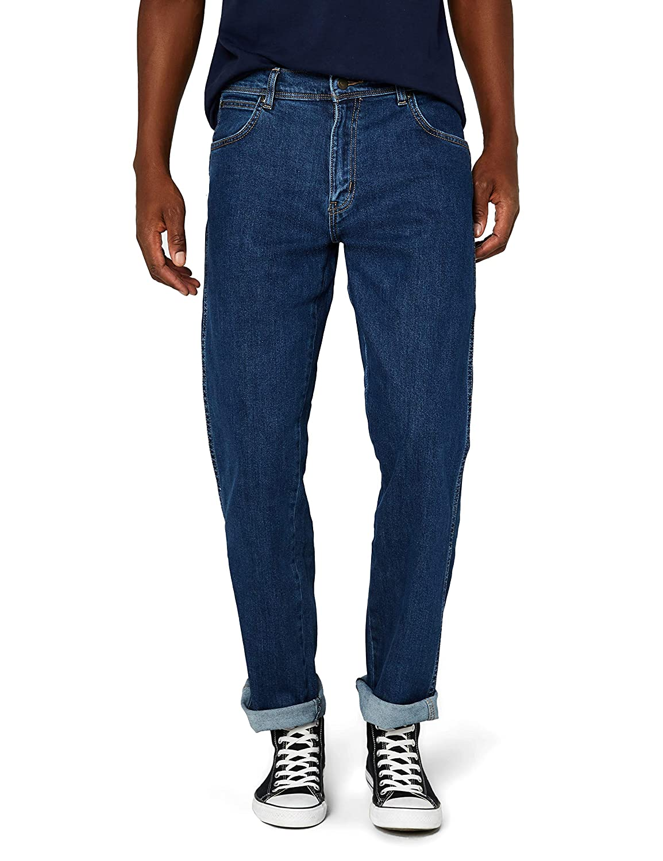 TALLA 36W / 34L. Wrangler Regular Fit Straight Leg Vaqueros para Hombre