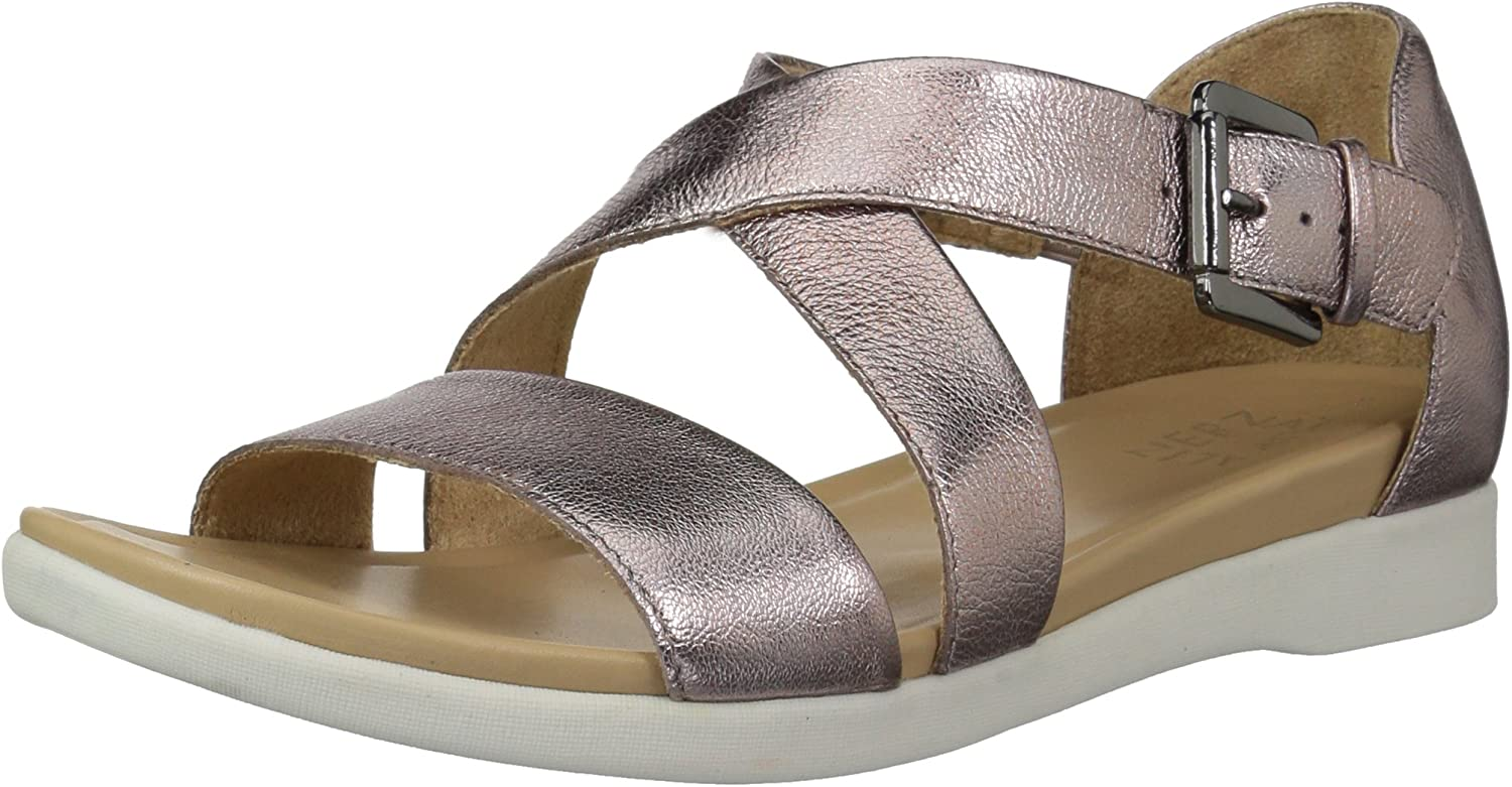 Naturalizer Womens wyla Leather Open Toe Casual Ankle Strap Sandals