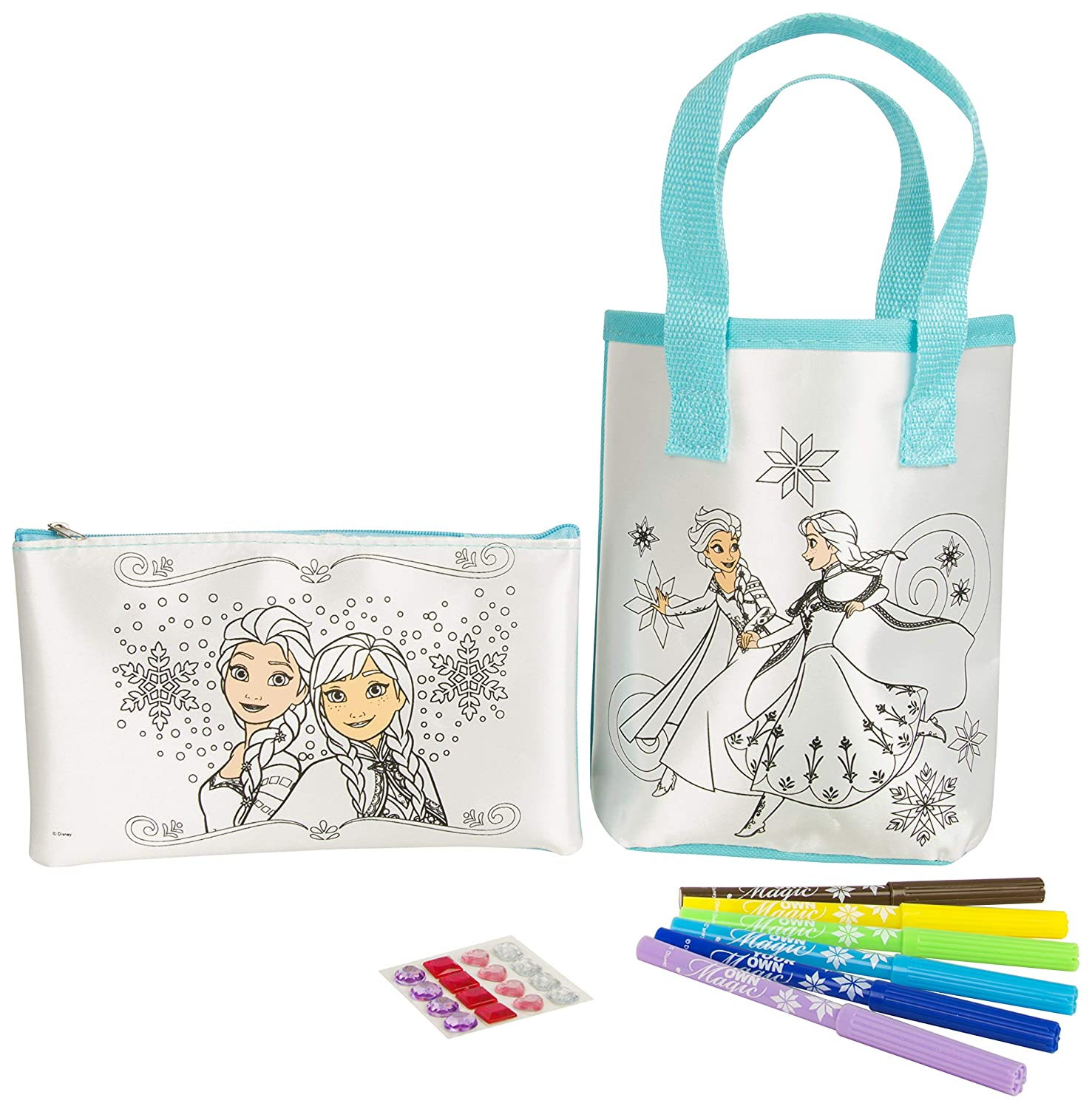 Amazon.com: Disney Frozen DFR8-4581 Colour Your Own Bag and ...