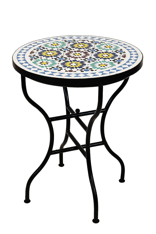 Amazon.de: ORIGINAL Marokkanischer Mosaiktisch Bistrotisch ø 60cm ...