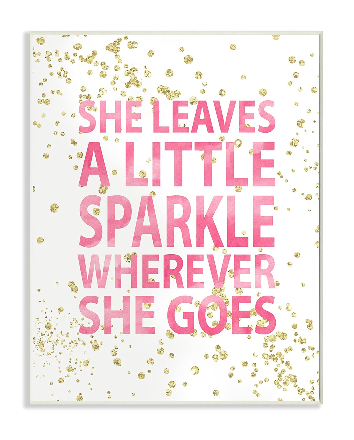 She leaves a little sparkle plaque wall nursery decor kids room art girls new ebay - Sparkle wall decor ...