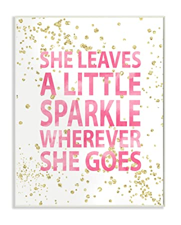 The Kids Room by Stupell She Leaves A Little Sparke Wall Plaque Art