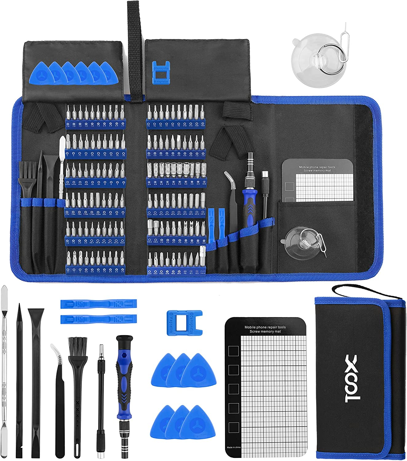 Magnetic Precision Screwdriver Set 140-in-1 Micro Tool Kit Cell iPhone Tablet PC