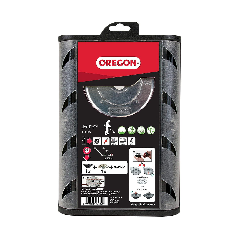 Oregon 111110-25 cc cabezal universal condensador de ajuste de carga sencilla del jet-ajuste para eje recto con la línea flexible