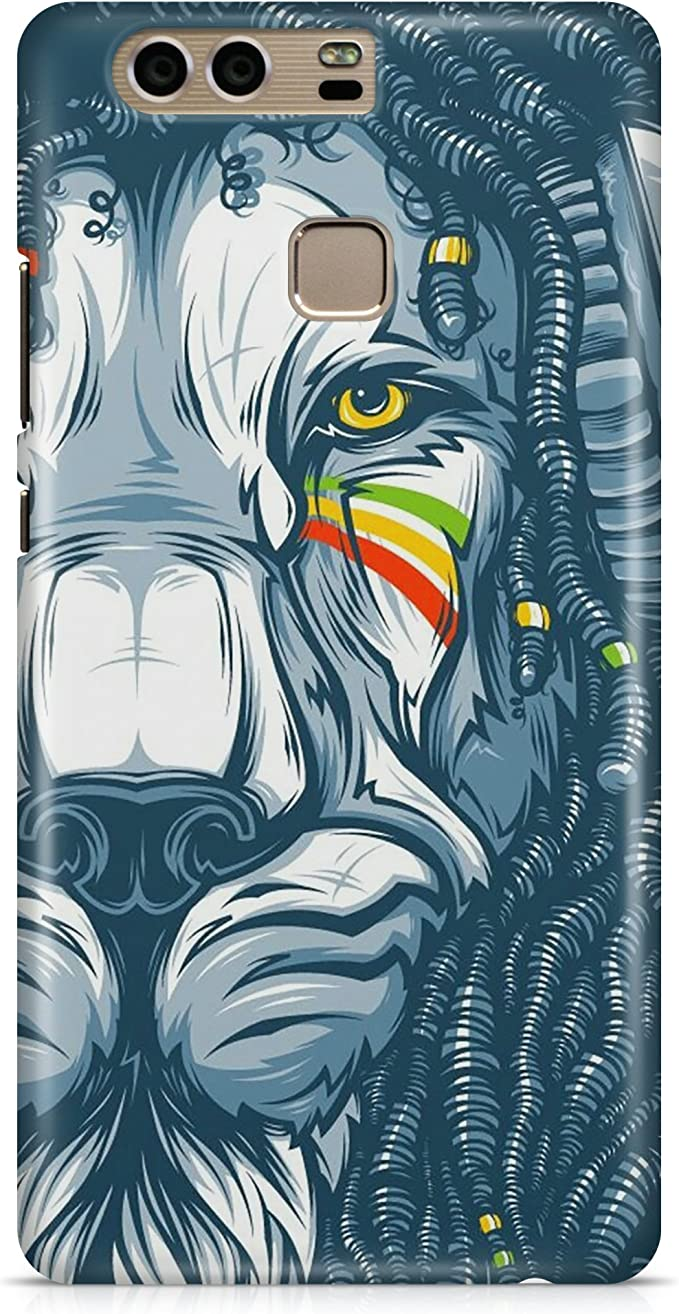 Protective Cover Case Lion Braids Animal Tribe Tattoo Face ...