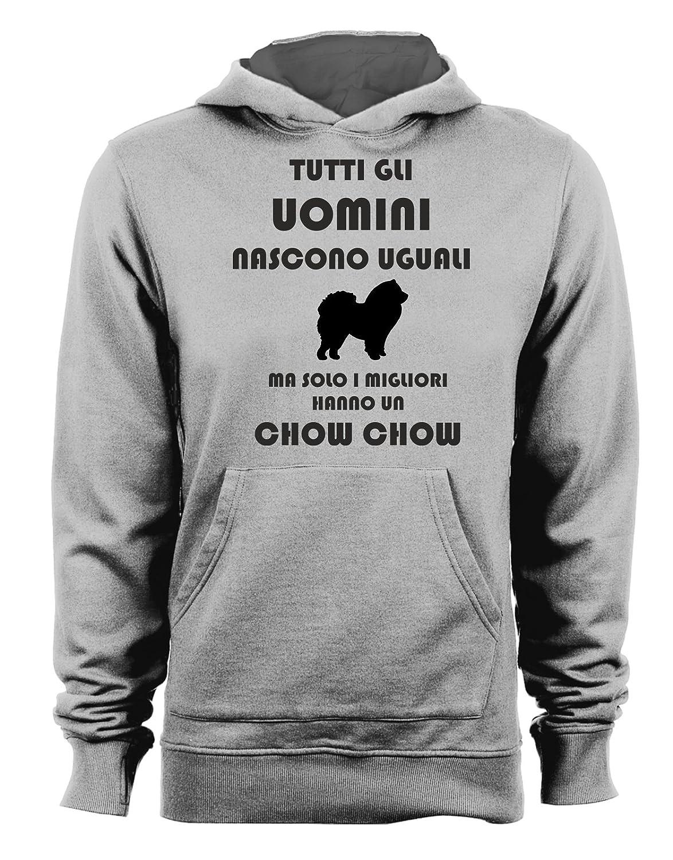 Humor Dog t-shirteria Felpa con Cappuccio Tutti Gli Uomini Nascono Uguali ma Solo i Migliori Hanno Un Chow Chow Cani Tutte Le Taglie