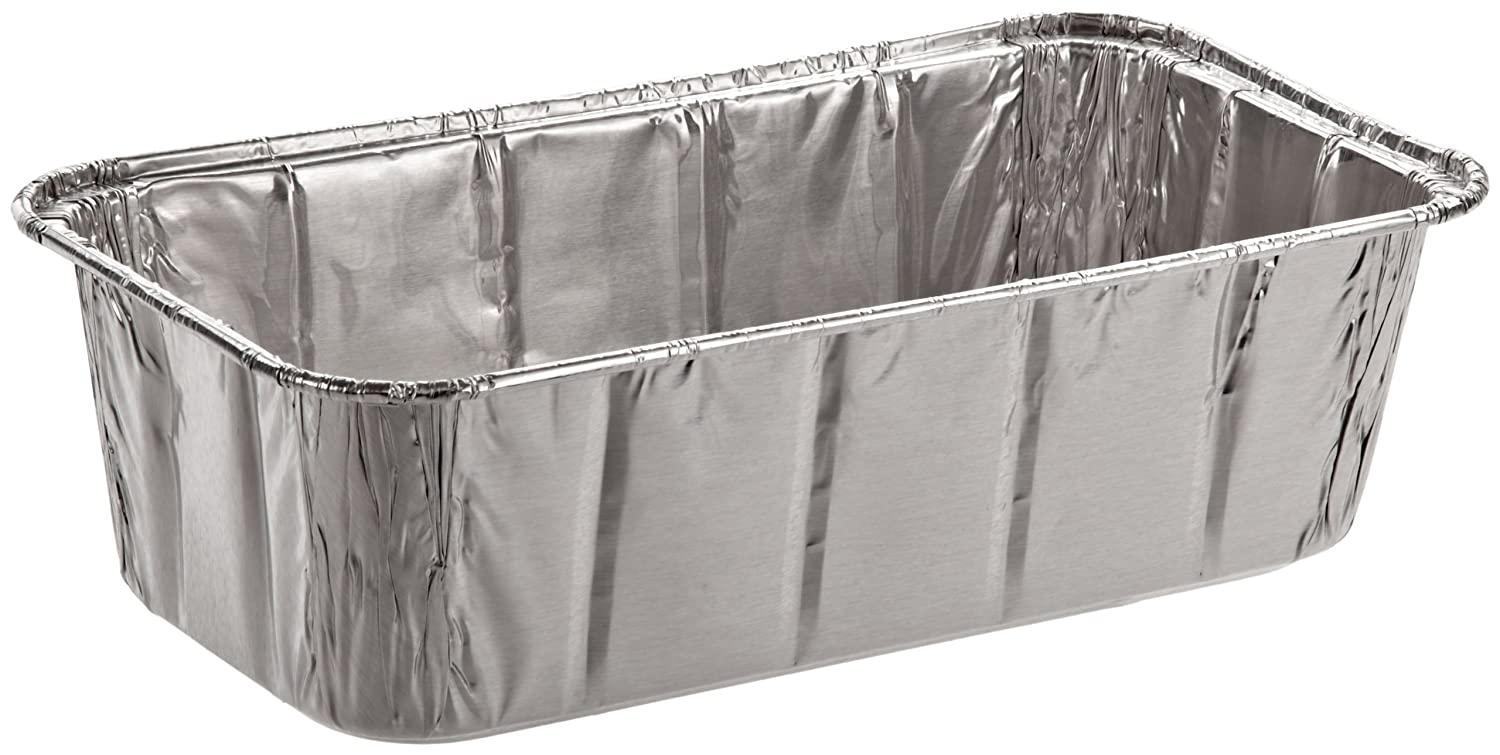 Handi-Foil of America 31630 Aluminum Baking Pan, 2 Loaf, 8w x 3 7/8d x 2 19/32h (Case of 200) HFA 316-30-200 /DM