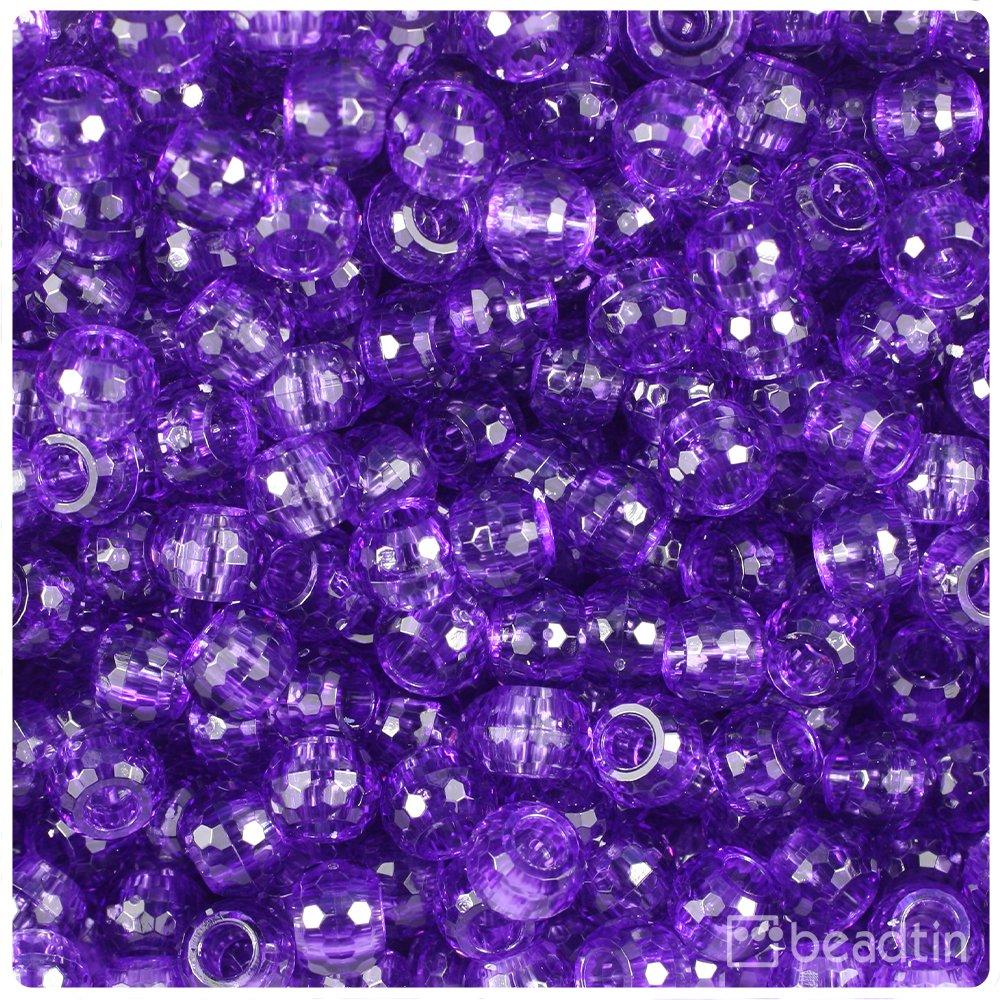 BeadTin Amethyst - Abalorios transparentes de 9 mm con ...