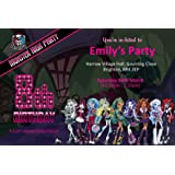 Monster High Birthday Party Invites Invitations X 10 Pack
