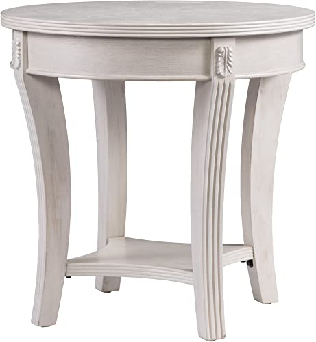 Furniture HotSpot Round Side Table Whitewashed - a good cheap living room table