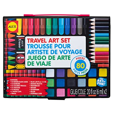 Alex Artist Studio Travel Art Set with Carrying Case Kids Art Supplies: Toys & Games