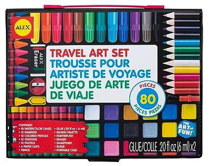 Amazon.com: ALEX Toys Artist Studio Travel Art Set with ...