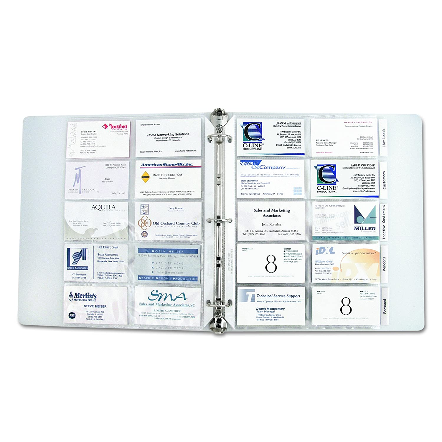 c line business card holder pages poly without tabs