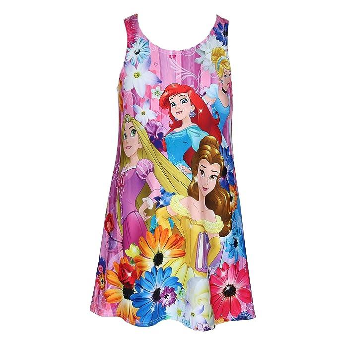 Amazon.com: Vestido de princesa Disney para niña, color rosa ...