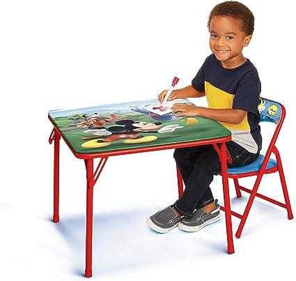 Disney Junior 45704 Mickey Juego De Mesa Y Silla Para Niños De 2 A 5 Años Toys Games