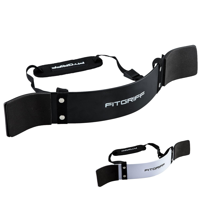 Cinturón aislador de bíceps de Fitgriff–Aislador de bíceps perfecto para concentrar la fuerza en el bíceps–para culturismo, entrenamiento de fuerza y levantamiento de pesas., negro FG006S