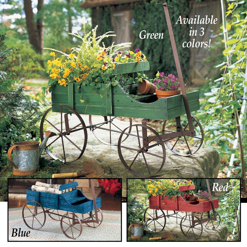Amish Wagon Decorative Indoor / Outdoor Garden Backyard Planter ...