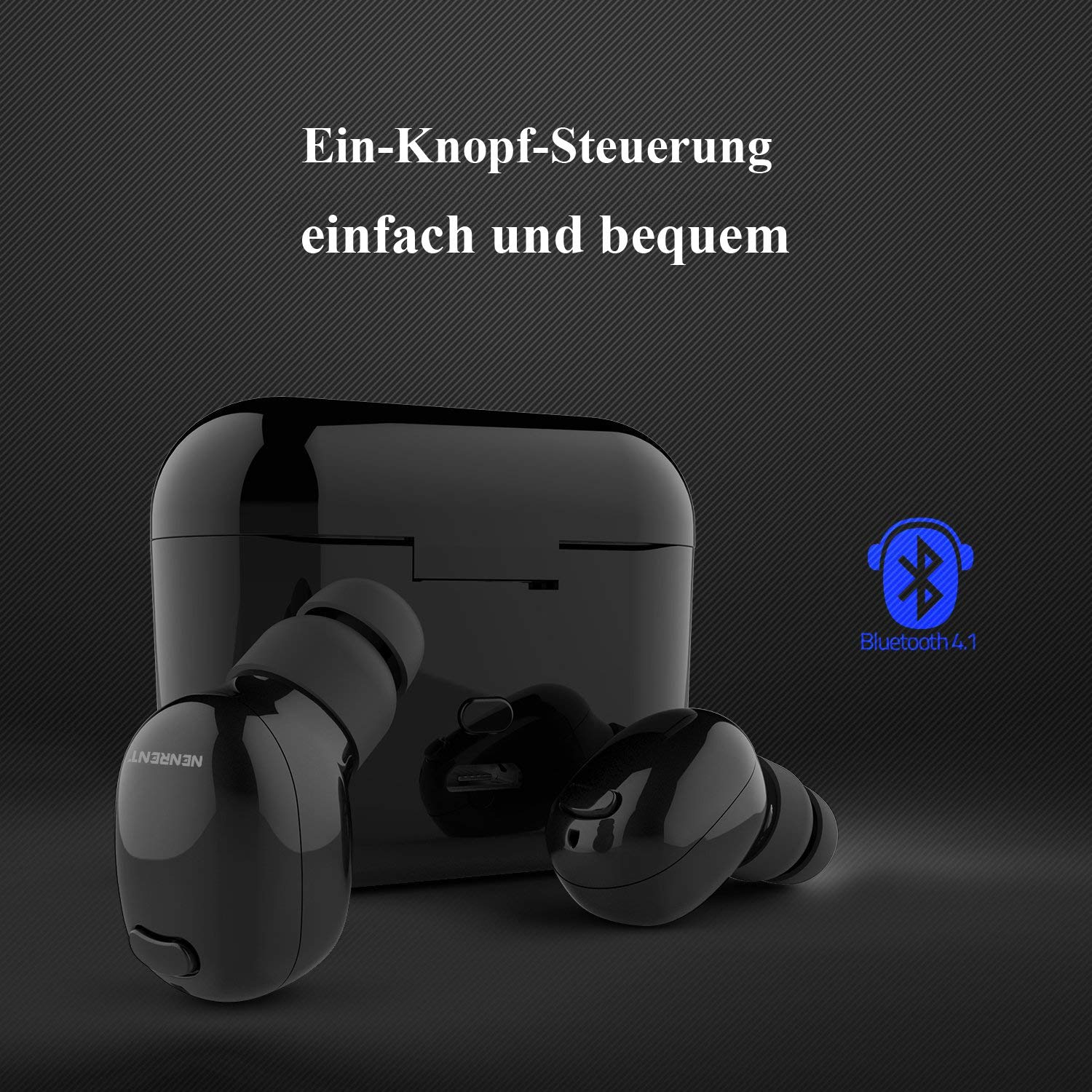 NENRENT S570 TWS Bluetooth Earbuds 5.0 Ture Wireless Earpiece HD Stereo Audio Sound Wireless Bluetooth Headphones with Charging Case 24 H Music Playtime