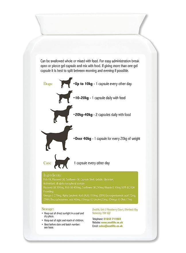 MAX Zestlife Omega 3,6,9 para geles suaves 120 perros y gatos: Amazon.es: Salud y cuidado personal