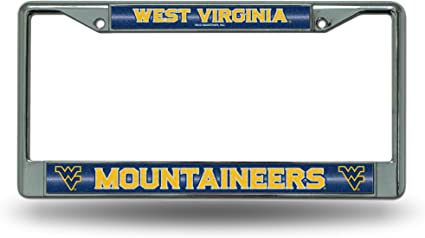 FANMATS NCAA West Virginia University Mountaineers Chrome License Plate Frame