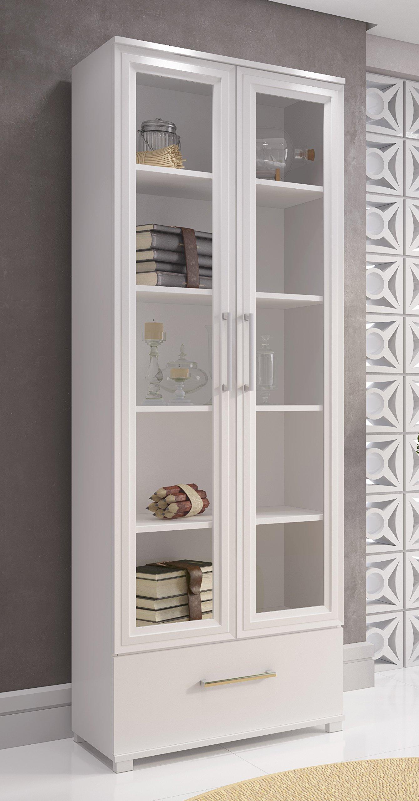 Accentuations by Manhattan Comfort 75AMC6 75AMC6-MC Serra Bookcase 1.0 White