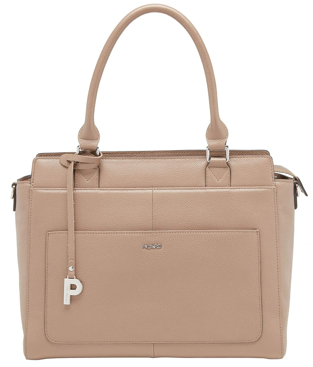 75a042f3311fd Picard Jingle Ladies Shopper Cattle Leather 9343 Graphite Rosewood   Amazon.co.uk  Shoes   Bags