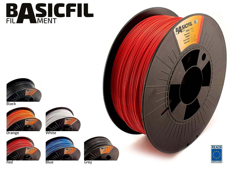 basicfil basicfil-1000 175pla Red 3d filamento stampante per FDM/FFF, Rosso DF BASICFIL-175PLA-1000-RED
